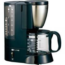 コーヒーメーカー メッシュフィルター カップ6杯分 ステンレスブラック