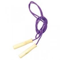 (まとめ)彩り木柄なわとび 紫 【×10個セット】