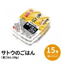 (まとめ)サトウのごはん (15食:3食×5パック)麦ごはん 150g