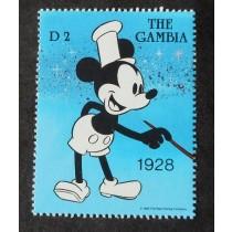 ★ミッキーマウスの切手、1989年ガンビア発行、未使用
