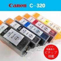 Canonプリンター互換インク 箱なしバルク品 インク残量ICチップ搭載!5色セット!C-320/C321 PIXUS IP3600 IP4600 IP4700 MX860 MX870 MP540 MP550 MP560 MP620 MP630 MP640 MP980 MP990等