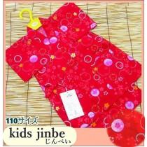 お子様用・甚平【赤に桜】サイズ110