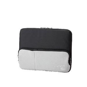 (まとめ)エレコム ポケット付きPCインナーバッグ BM-IBPT13BK【×2セット】