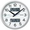 (まとめ)セイコークロック ハイブリッド電波時計 ZS251S【×3セット】